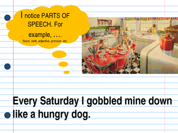 Saturdays and Teacakes Interactive Mentor Sentence Teaching Powerpoint