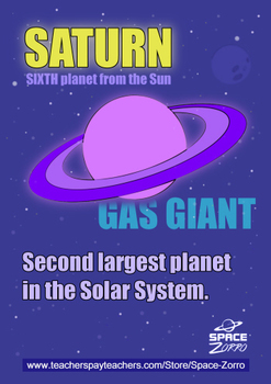 Saturn POSTER ( Solar System Planets )