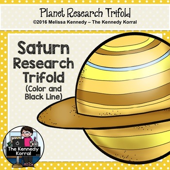 Saturn Research Trifold {Space Research, Planets, Solar System}