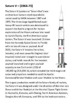 Saturn V Handout