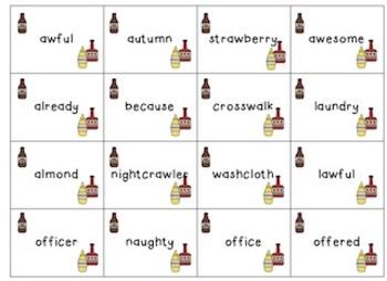 Saucy Words (au, al, aw, o, augh)