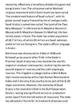 Saudi Arabia Handout