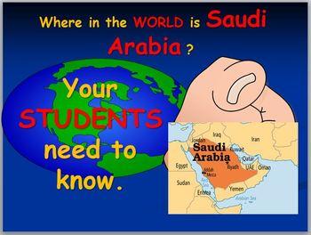 Saudi Arabia Map Activity and Map Test