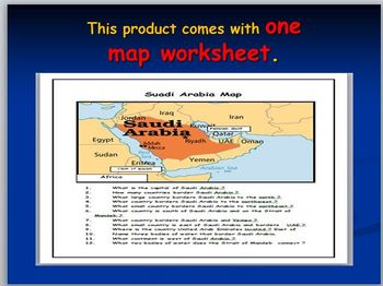 Saudi Arabia Map Activity and Map Test