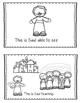 Saul (Paul) His Conversion- Bible Lesson (All About Series-Preschool/Kinder)
