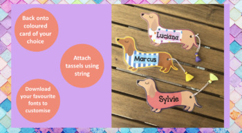 Sausage Dog Dachshund Bookmarks