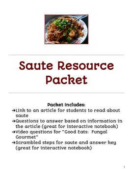 Saute Resource Packet