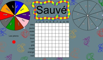 Sauvé! A Smart Notebook French Game of Discovery Using Colours, Numbers &Graphs!