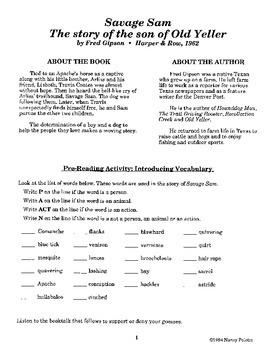 Savage Sam Literature Guide