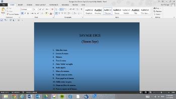 Savage dice (A game based on Simon Says)