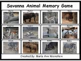 Savanna Animal Memory Game