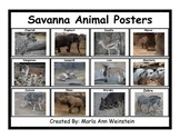 Savanna Animal Posters