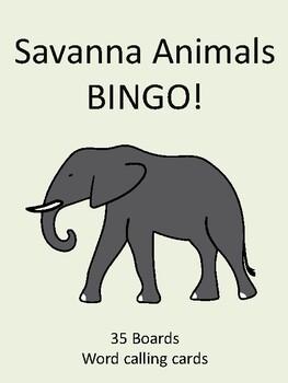 Savanna Animals BINGO!