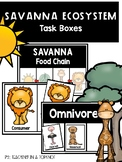 Savanna Ecosystem Task Boxes