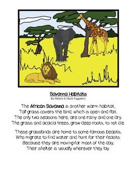 Savanna Habitat Poem