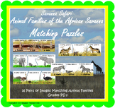 Savanna Safari Animal Families Matching Puzzles (INCLUDED in MiniMuseum)
