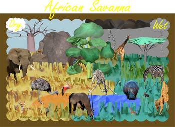 Savanna Safari: Maps, Mural, and Mini-Museum (COMPLETE Bundle)