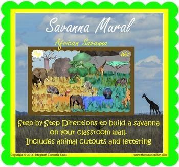Savanna Safari Mural (INCLUDED in MiniMuseum)