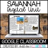 Savannah Biome Distance Learning GOOGLE Unit