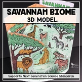 Savannah Biome Model - 3D Model - Biome Project - Distance Learning