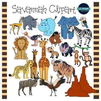 Savannah Clipart {L.E. Designs}