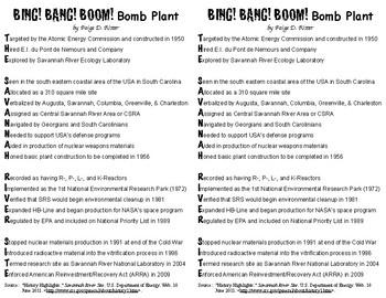 Savannah River Site Bomb Plant Poem
