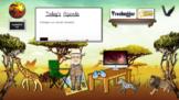 Savannah Themed Animated Virtual Bitmoji Google Classroom
