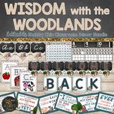 Woodland Animals Classroom Theme Decor Bundle - Editable