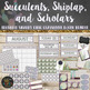 Succulent Classroom Theme Decor Bundle Editable