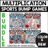 Multiplication BUMP Games BUNDLE (Sports Themes)