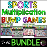 Multiplication BUMP Games BUNDLE (Sports Themes)