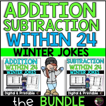 Bundle-Addition/ Subtraction Practice with Winter Jokes!