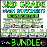 3rd Grade Monthly Math Bundle (year-long!)