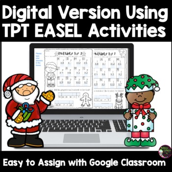 Multiplication Fact Practice with Christmas Jokes 1's -12's