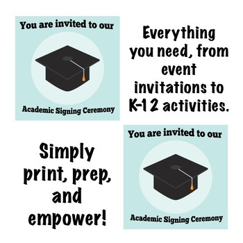Back to School: Senior Academic Signing Ceremony Event Bundle