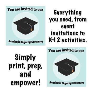 Back to School: Senior Academic Signing Ceremony Event Bundle