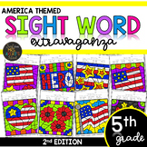 Color by Sight Word | Veterans Day | Memorial Day | Fifth Grade Sight Words