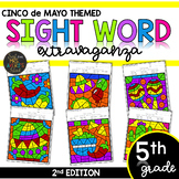 Fifth Grade Sight Word Color by Code Worksheets Cinco de Mayo Activities