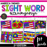 Color by Sight Word | America | Veterans Day | Memorial Day | First Grade