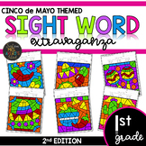 First Grade Sight Word Color by Code Worksheets Cinco de Mayo Activities