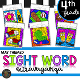 Fourth Grade Sight Word Activities Color by Code for End of Year
