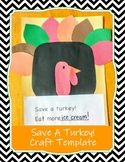 Save A Turkey! Craft Template