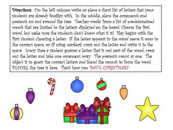 Letter Sound Game- Christmas