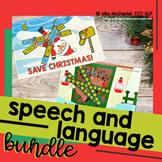 Save Christmas Speech and Language BUNDLE