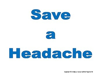 Save Early, Save Often, Save a Headache Posters
