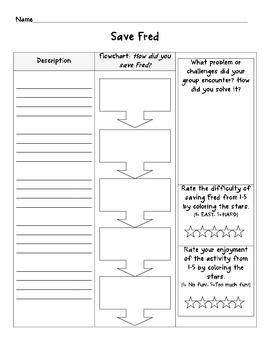 Save Fred Lab Sheet By Amanda Adducci Teachers Pay Teachers Saving Fred Flow Chart Save Fred Lab Sheet