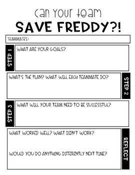 Save Freddy Planning Sheet