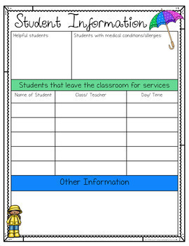 Substitute Teaching Editable Pack