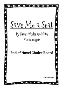 Save Me a Seat End-of-Unit Choice Board