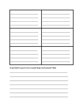 Save Me a Seat Worksheets
